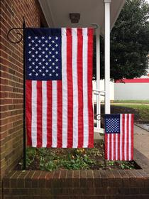 AMERICAN FLAG AND FLAGPOLE SALES BY BALD EAGLE FLAG STORE SERVING FREDERICKSBURG, RICHMOND, HAMPTON, NEWPORT NEWS, NORFOLK, VA BEACH, ARLINGTON, ALEXANDRIA, FAIRFAX, WINCHESTER, HARRISONBURG, ROANOKE, CHARLOTTESVILLE, WARRENTON, CULPEPER, REMINGTON, HAYMARKET, FRONT ROYAL, PHOTOGRAPH BY BALDEAGLEINDUSTRIES.COM (540) 374-3480