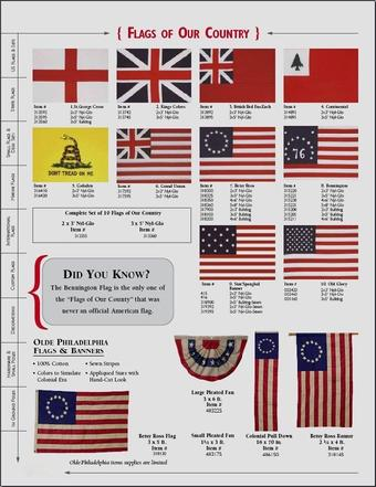 HISTORICAL FLAGS FROM BALD EAGLE FLAG STORE FREDERICKSBURG VA 540-374-3480 BALDEAGLEINDUSTRIES.COM