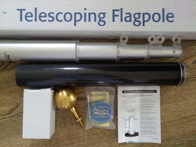 TELESCOPIC ALUMINUM FLAGPOLE BY BALD EAGLE FLAG STORE FREDERICKSBURG VA 540-374-3480 BALDEAGLEINDUSTRIES.COM flag store serving Fredericksburg, Richmond, Hampton, Newport News, Norfolk, Va Beach, Arlington, Alexandria, Fairfax, Winchester, Harrisonburg, Roanoke, Front Royal, Manassas, Warranton,Culpeper, Stafford, Quantico Marine Corps Base, Woodbridge