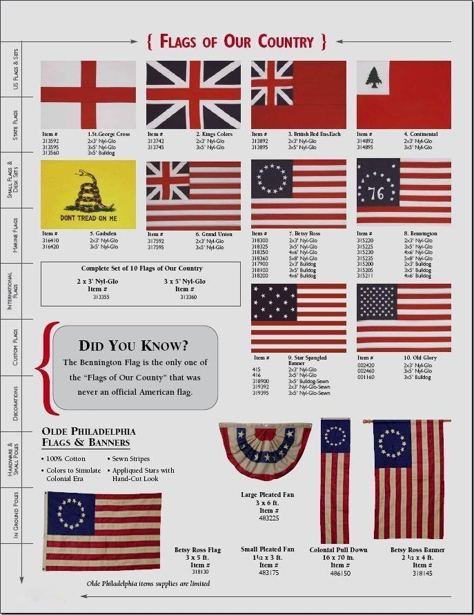 HISTORICAL FLAG BY BALD EAGLE FLAG STORE USA (540) 374-3480 Commercial Flagpole, Flag and Flag Product Since 1979