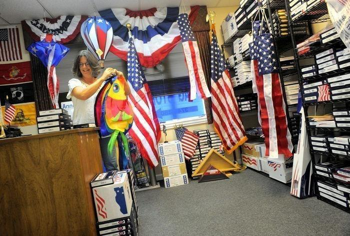 FLAG SALE AT BALD EAGLE FLAG STORE FREDERICKSBURG VA USA 540-374-3480 PHOTOGRAPH BY BALDEAGLEINDUSTRIES.COM