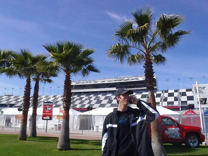 bald eagle flag store flagpole project manager hunter smith here at daytona beach international speedway for the rolex 24
