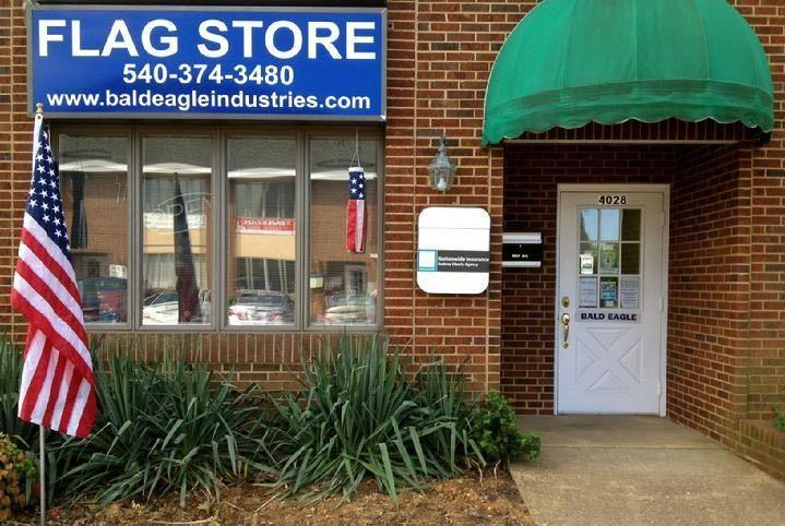 COMMERCIAL FLAGPOLE, FLAG, FLAG PRODUCT AND FLAGPOLE INSTALLATION BY BALD EAGLE FLAG STORE FREDERICKSBURG VA USA