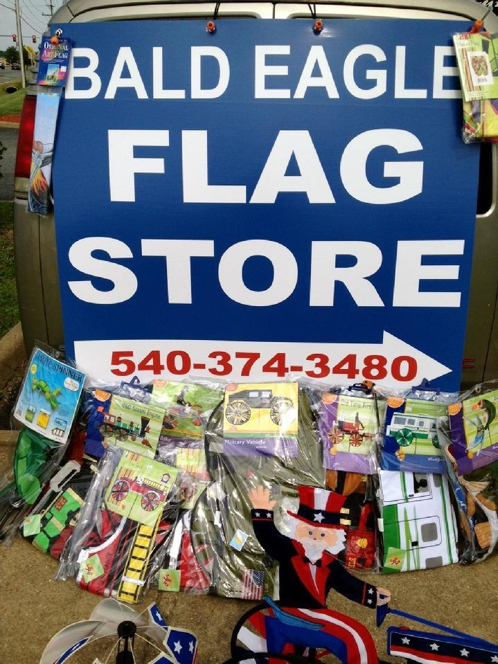 FLAGPOLES, FLAGS AND FLAG PRODUCTS BY BALD EAGLE INDUSTRIES AND BALD EAGLE FLAG STORE FREDERICKSBURG VA USA, 540-374-3480, PHOTOGRAPH BY BALDEAGLEINDUSTRIES.COM
