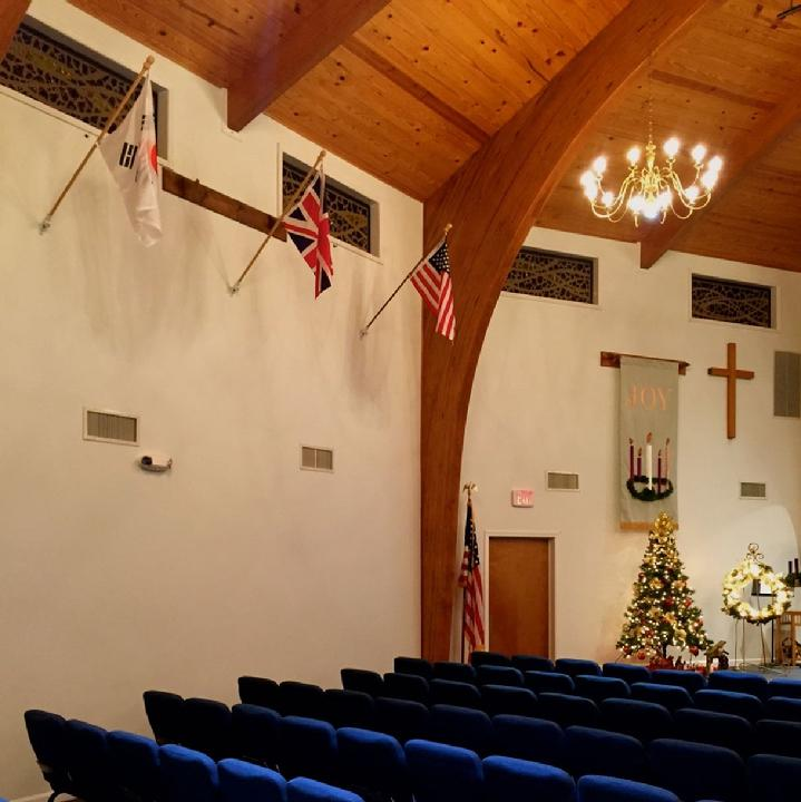 INTERNATIONAL FLAG SET AT CHURCH BY BALD EAGLE FLAG STORE USA (540) 374-3480