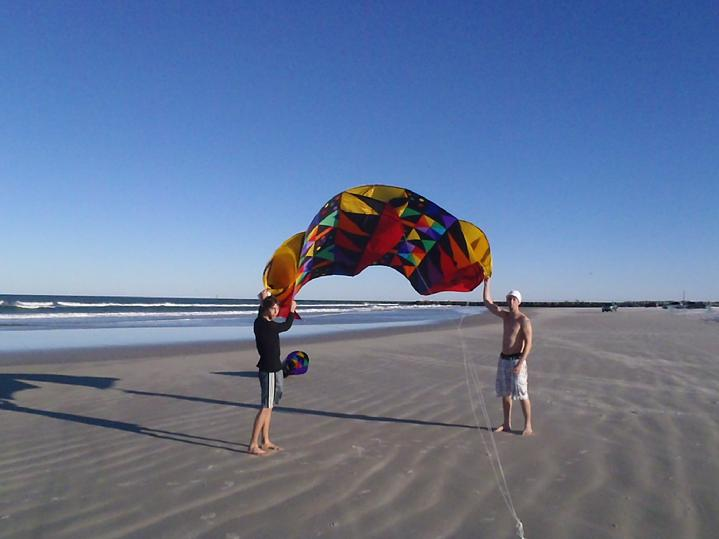 bald eagle flag store field testing the 81 sled kite on ponce inlet daytona beach florida