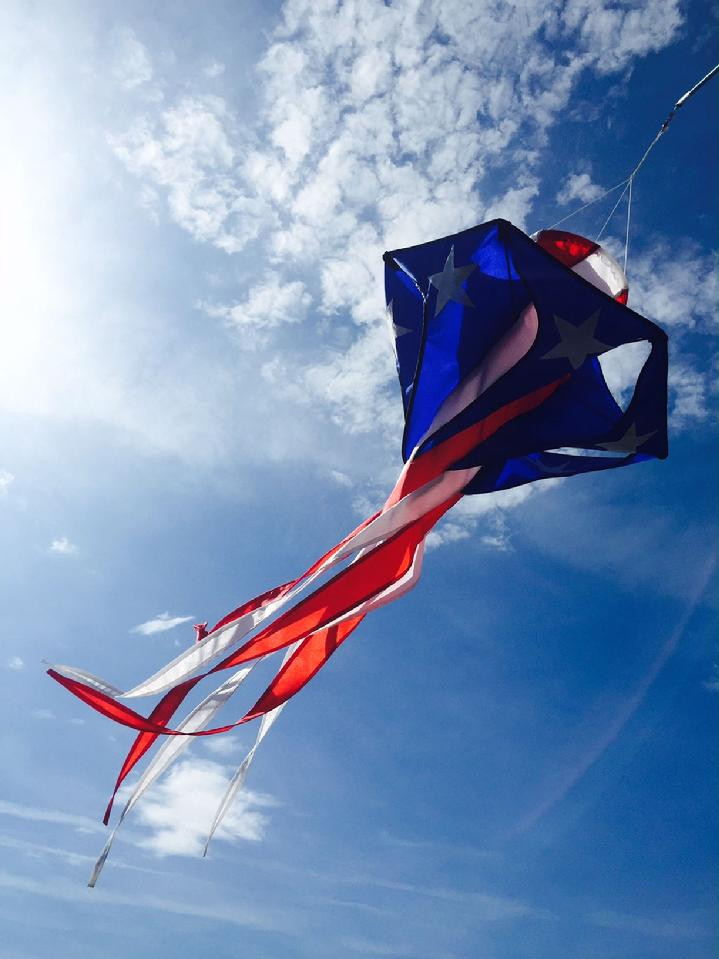 SOLARMAX® Nylon Patriotic Star Twister Windsock Produced in 2004 from Bald Eagle Industries and Bald Eagle Flag Store Fredericksburg VA, 540-374-3480