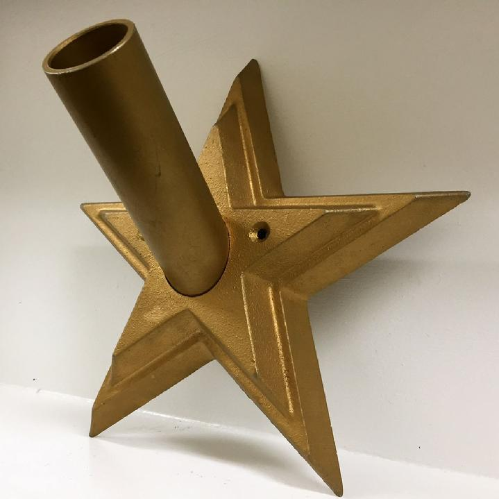 patriot holder for indoor flag display by bald eagle industries and bald eagle flag store, cast aluminum star flagpole holder for indoor flag