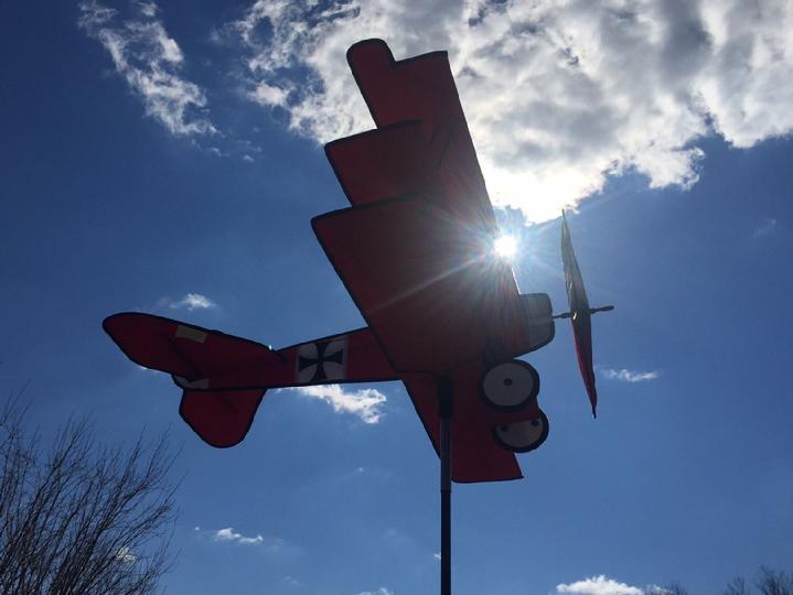 Red Baron Tri-Plane Airplane Spinner by Bald Eagle Industries and Bald Eagle Flag Store Fredericksburg VA