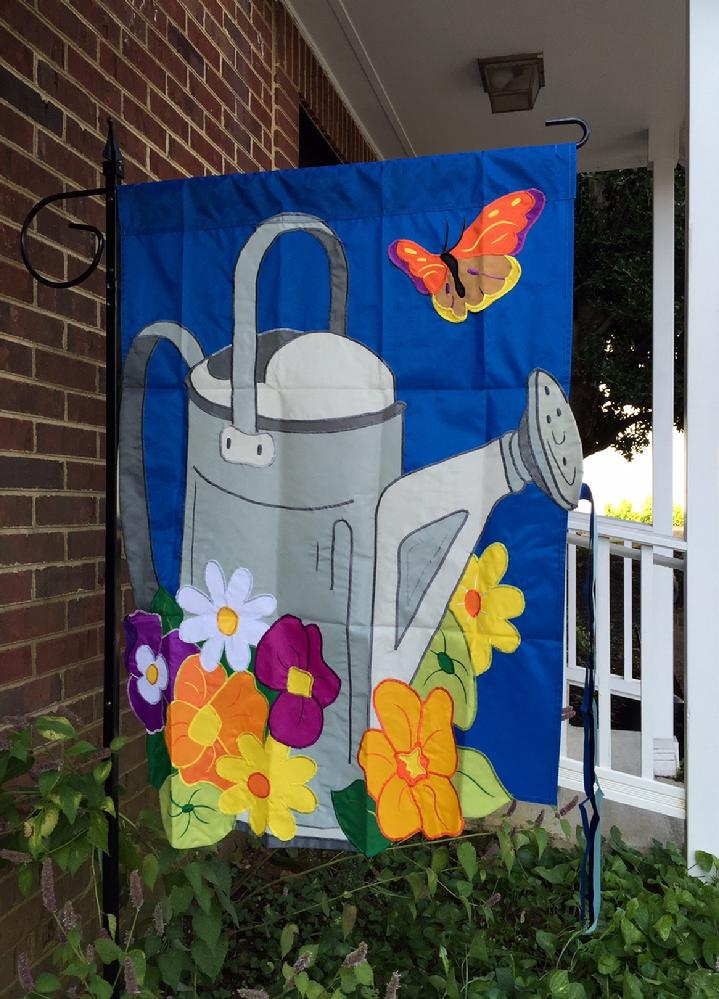 WATERING CAN FLAG BY BALD EAGLE FLAG STORE 540-374-3480 PHOTOGRAPH BY BALDEAGLEINDUSTRIES.COM