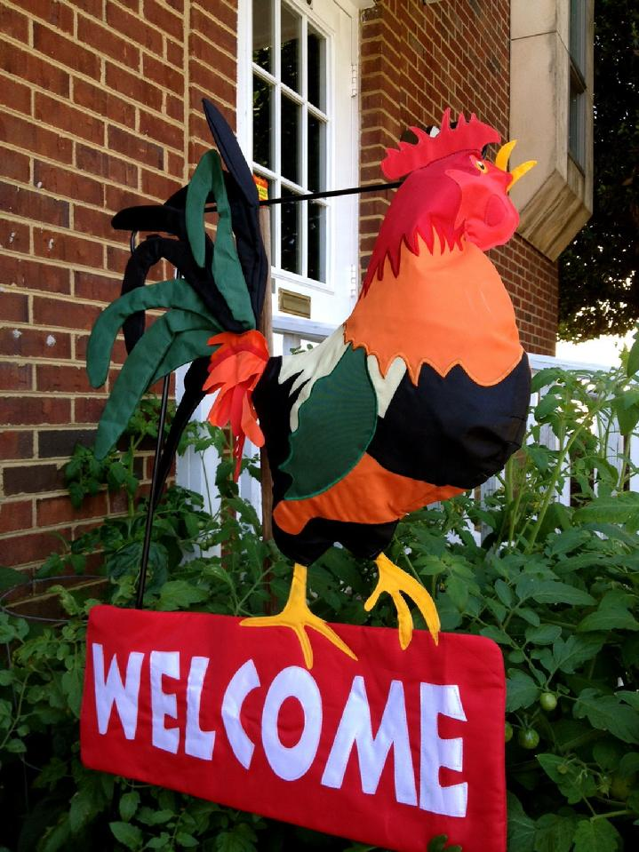 ROOSTER FLAG WELCOME FLAG BY BALD EAGLE FLAG STORE FREDERICKSBURG VA USA (540) 374-3480 photograph by baldeagleindustries.com