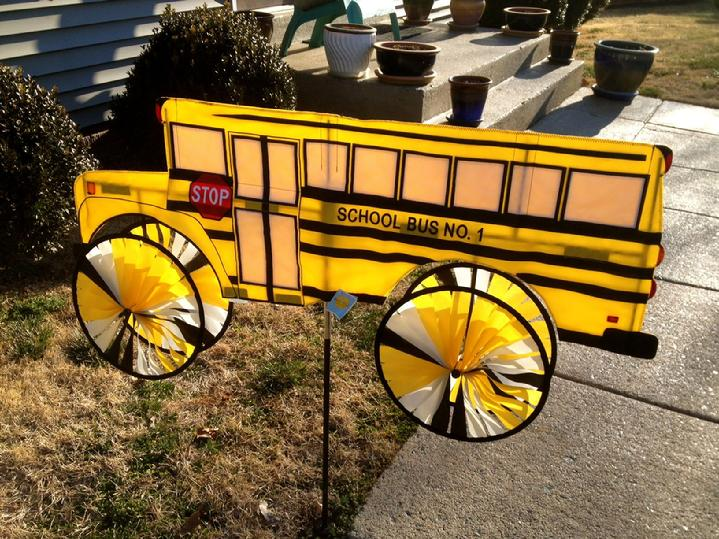 large solarmax nylon school bus spinner from bald eagle flag store, serving richmond, hampton, norfolk, newport news, va beach, arlington, alexandria, fairfax, winchester, harrisonburg, roanoke